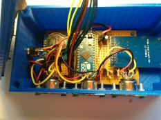 Main board mounted in the base of the enclosure